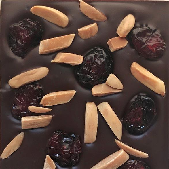 Almond & Cranberry Dark Chocolate Bar