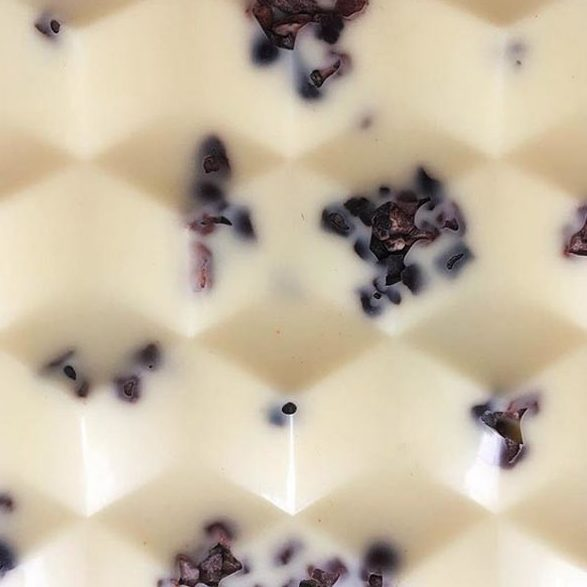 Maple Glazed Cocoa Nibs White Chocolate