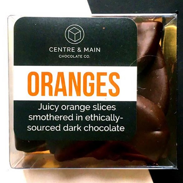 Orange Slices in Chocolate Package